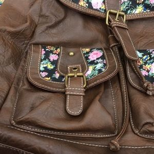 Claire's Bags - Claire's small brown backpack